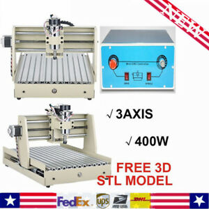 3 axis 3040 Router Engraver Wood Engraving Milling Cuuter Machine Desktop 400w