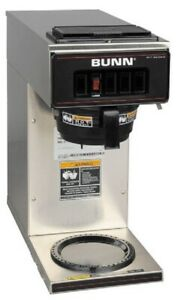 Bunn 13300 0001 Vp17 1 Sst Stainless Steel Pourover Coffee Brewer 1 Warmer 120v