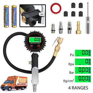 250psi 17 2 Bar Electric Digital Lcd Tire Pressure Tire Inflator Gauge valve Cap