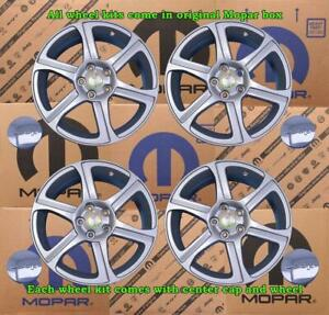 New Oem Mopar Jeep Liberty Wheel Kit W Caps Set Of 4 18x7 5 5x115mm 82210960
