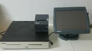 Micros Workstation 5a Point Of Sale System With Receipt Printer And Cash Drawer