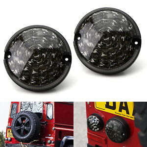 2 95mm Nas Style Smoked Lens Full Led Upgrade Kit For Land Rover Defender Ld