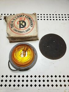 Nos Vintage K D No A539 Clearance Marker Light Truck Travel Trailer Amber Glass