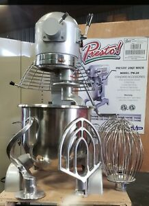 Presto Pm 20 Commercial Mixer 20 Qt With Steel Bowl And 4 Attachments