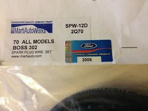1970 Boss 302 Mustang Correct Concourse Spark Plug Wires 2nd Qtr 70 Date New
