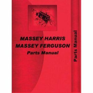 Parts Manual 333 444 Massey Harris 333 333 444 444