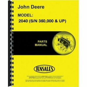 Parts Manual 2040 2240 John Deere 2040 2240 Pc1763