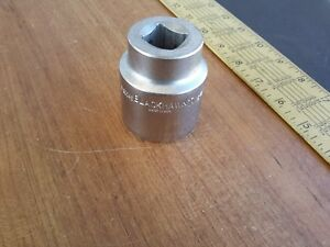 Blackhawk Tools Usa 1 7 16 3 4 Drive 12 Point Standard Chrome Socket No 60046