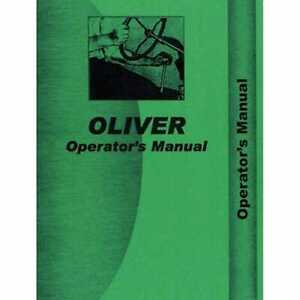 Operator s Manual 1855 Oliver 1855 1855
