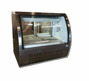 48 18cf Curved Glass Refrigerated Bakery Deli Meat Case Brand New Alamo Xdc120