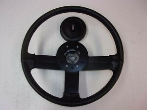 Leather Wrapped Steering Wheel And Horn Pad 82 89 Camaro Iroc z Z28 Or2145 51
