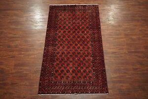 5x10 Turkoman Bukhara Gallery Runner 1940 S Antique Hand Knotted Wool Area Rug