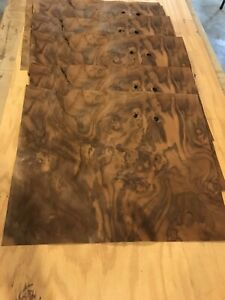 Walnut Burl Raw Wood Veneer Sheet 15 X 18 20 Sheets
