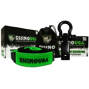 Rhino Usa Combo Shackle Hitch Receiver 20 Tow Strap