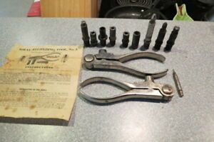 2-IDEAL RELOADING TOOLS No.3 .30 U.S. & .32-40 WPARTS & INSTRUCTIONS