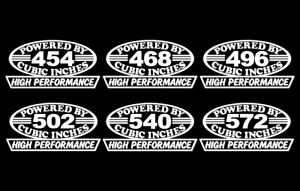 2 Hp Bbc V8 Engine Decals 454 468 496 502 540 572 Big Block Powered Rat Stickers