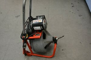 Ridgid 115 v K 400 Drain Cleaning Drum Machine W c 32 3 8 Integral Wound Cable