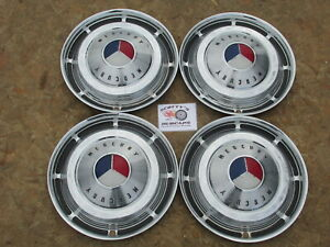 1963 Mercury Monterey S 55 Breezway 14 Wheel Covers Hubcaps Set Of 4