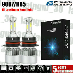Fit For 1999 2004 Ford Mustang Pair 9007 hb5 Led Headlight High low Beam Bulbs