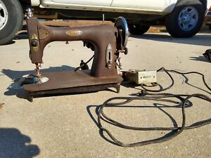 Antique Vintage White Rotary Sewing Machine