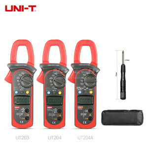 Uni t Digital Clamp Meter Multimeter Ac Dc Volt Current Temp Res Frequencytest