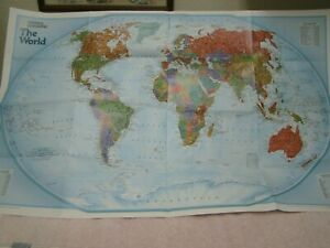 Vintage 2004 National Geographic Map Of The World