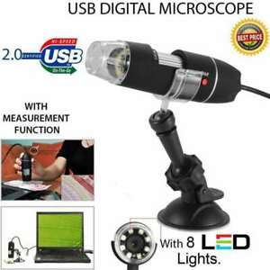 1000x 8led Usb 2 0 Digital 2mp Microscope Endoscope Zoom Camera Magnifier stand