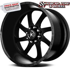 American Force Blade Ss8 Flat Black Solid 22 x12 Wheels Rims 8 Lug set Of 4