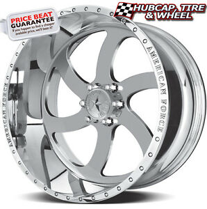 American Force Blade Ss6 Mirror Polished 22 X10 Wheels Rims 6 Lug Set Of 4 New