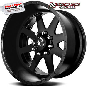 American Force Independence Ss8 Matte Black 20 x10 Wheels Rims 8 Lug set Of 4