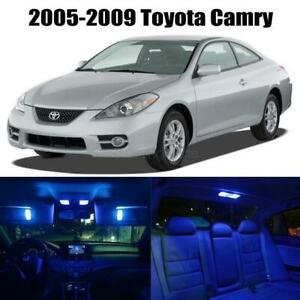 7x Lights Led Interior Package Bulb For 2005 2009 Toyota Camry Blue Color