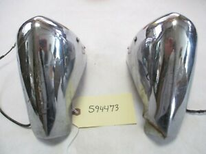1956 Dodge Coronet Lancer Rear Bumper Guard License Lights L r Oem