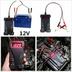 12v Smart Digital Battery Tester Voltmeter And Alternator Analyzer With Ledlight