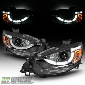 2013 2016 Mazda Cx 5 Halogen Led Drl Light Tube Projector Headlights Headlamps