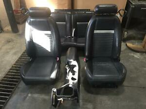 2001 2004 Mach 1 Ford Mustang Black Leather Front Rear Seats W Console Driver