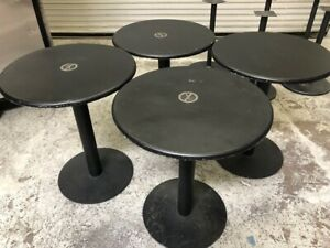24 Round Table Tops Bases Heavy Duty Metal 4 Pack 1003 Restaurant Dining