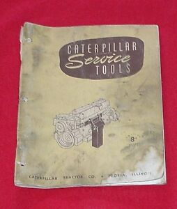 Caterpillar Service Tools Book Manual Cat January 1951 Shop Equipment Fixtures