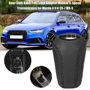 6speed Gear Shift Knob Adapter Manual Transmission Fit For Mazda 3 5 6 Cx 7 Mx 5