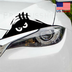 Black 3d Funny Peeking Eyes For Car Bumper Window Wall Vinyl Decal Sticker Hot