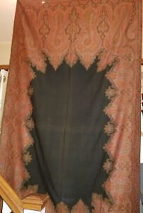 Antique Paisley Wool Long Shawl With 6 Colors