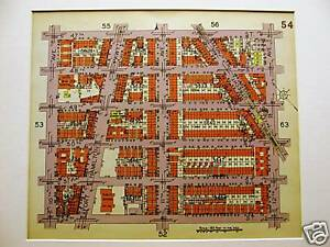 Brooklyn Map 1929 Boro Park 47 52nd St 10 12th Ave Matted
