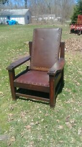 Antique Stickley Era Tobey Morris Chair Arts And Crafts Early 1901