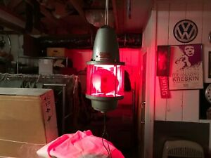 Federal Siren Beacon Ray 27s Red Warning Light Rotating Strobe Works Nice Lqqk