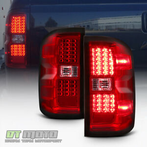 Red 2014 2015 2016 2017 Chevy Silverado 1500 Led Tail Lights 14 17 Brake Lamps