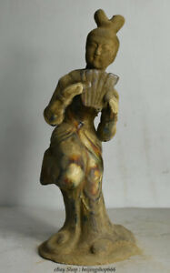 12 Old Chinese Tang San Cai Porcelain Palace Musical Beauty Belle Sculpture 01