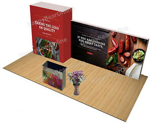 Trade Show Display Quick Pop up 20ft Booth store Room Graphics Included Z 06