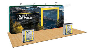 Trade Show A 08 Display Fabric Tension Exhibition Pop up Booth 20ft