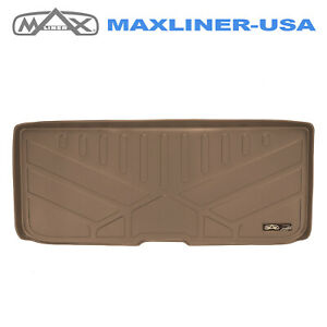 2016 2019 Honda Pilot Maxliner Custom Fit Cargo Liner Mat Tan Behind Third Row