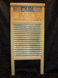 Vintage Dubl Handi Washboard Travel Size Columbus Washboard Co
