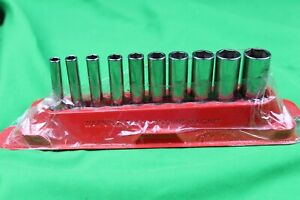 Snap On 1 4 Deep Drive 10pc Socket Set Stm6 Stm18 3 16 9 16 6pt Sae Pakty219